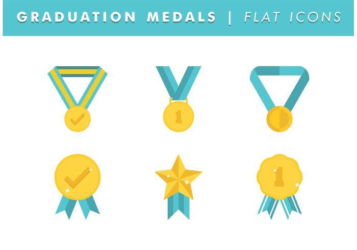 Graduierung Medaillen Vektor kostenlos