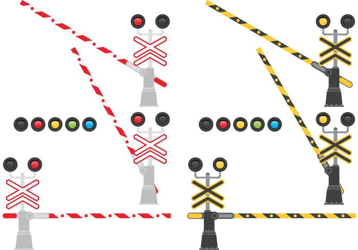 Järnvägshinder vektor