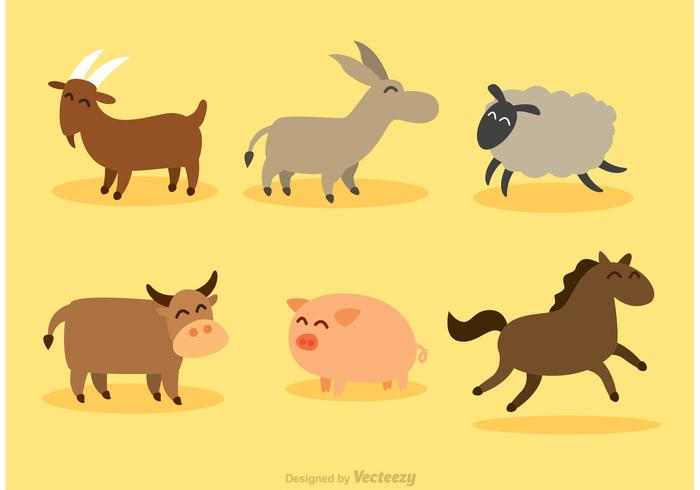 Set av däggdjur vektorer