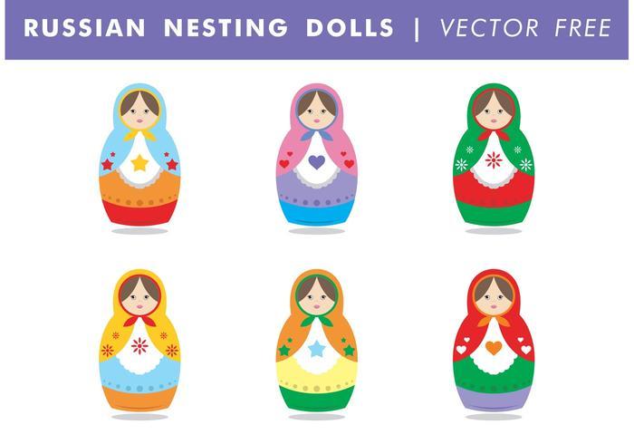 Russische Nesting Puppen Vector Free