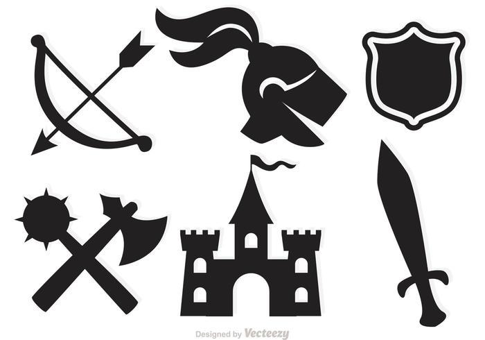 Mittelalterliche Vektor-Icons vektor