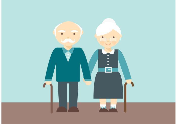 Free Lovely Senior Paar Vektor