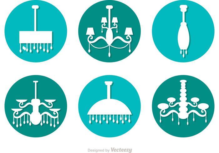 Kreisförmige Kronleuchter Vektor Icons