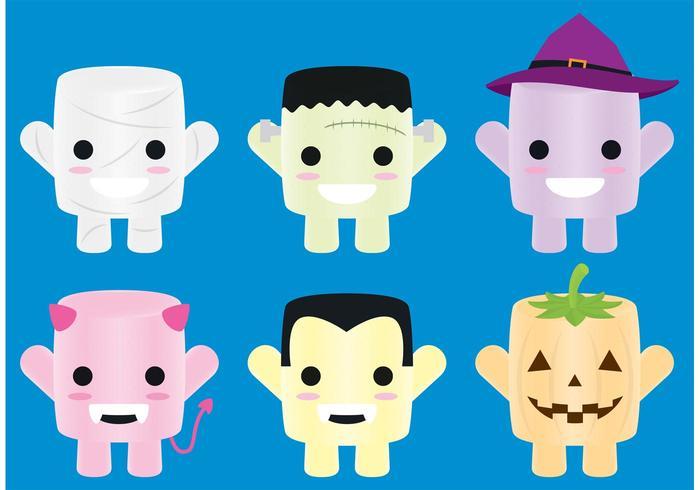 Halloween Candy Character Vectors