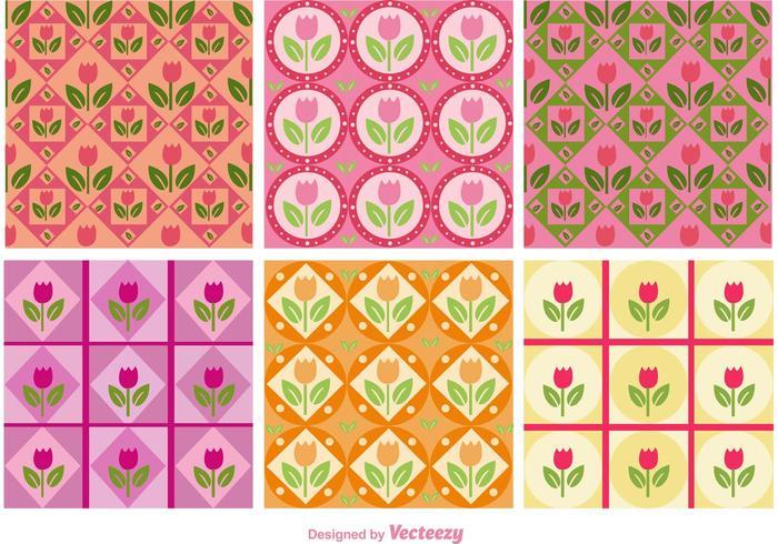 Blomrosa mönster vektor