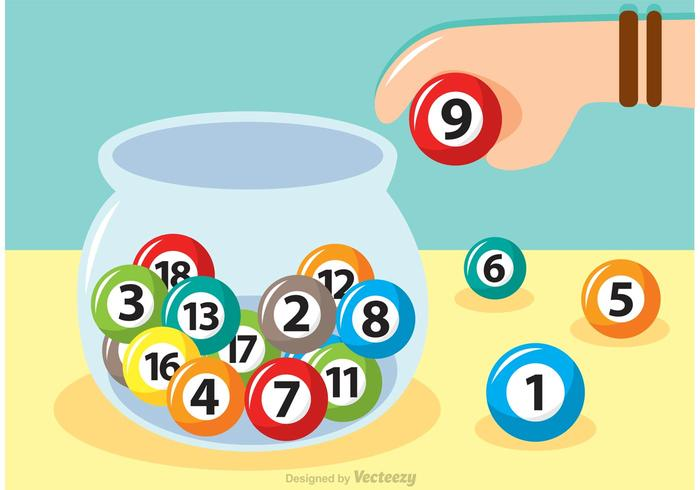 Lottery Glas Schüssel Vektor