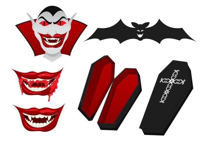 Dracula Vector Elemente