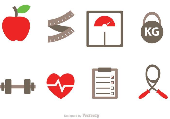 Diät Vektor Icons