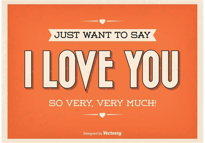 Weinlese-typographisches Liebes-Plakat vektor