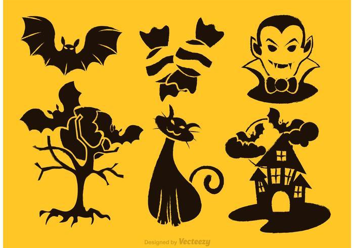 Dracula vektor ikoner uppsättning