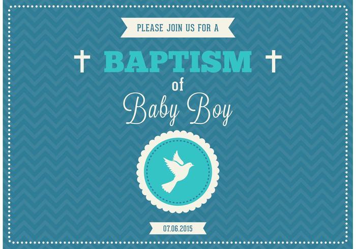 Gratis Baby Boy Dop Vector Invitation