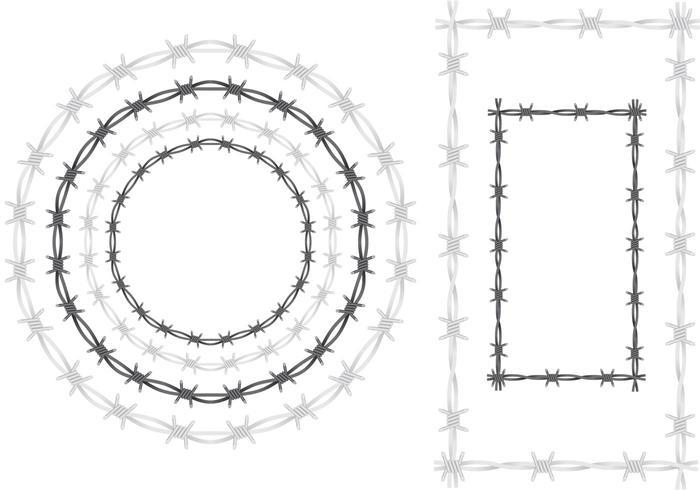 Stacheldraht-Vektorrahmen vektor