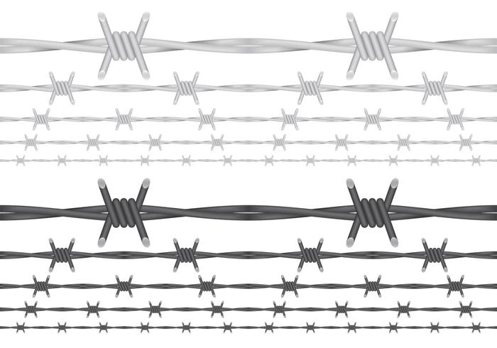 Taggtrådsvektorer vektor