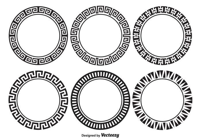 Dekorativ rund ramsats vektor