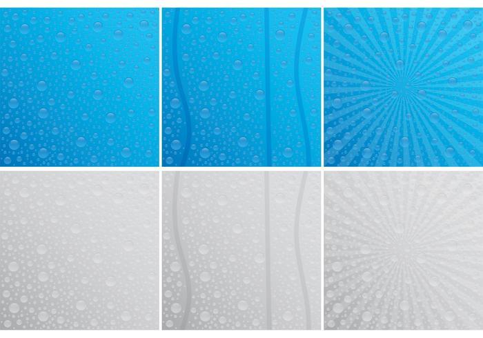 Droppar på fönstersvektorer vektor