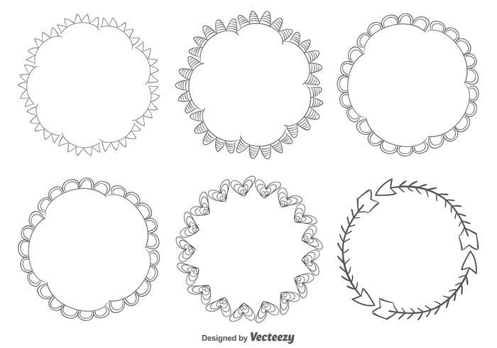 Handgezeichneter Rahmensatz vektor
