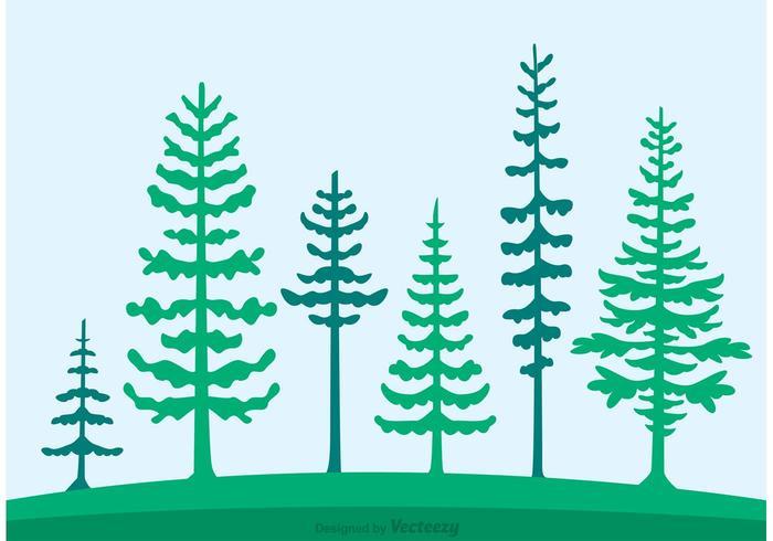 Zedernbäume Silhouette Vektor