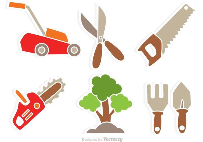 Garten Werkzeug Vektor Icons