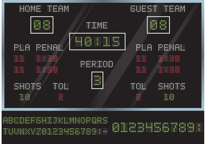 Hockey poäng styrelse vektor