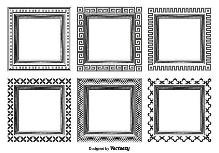 Dekorative Rahmenformen vektor
