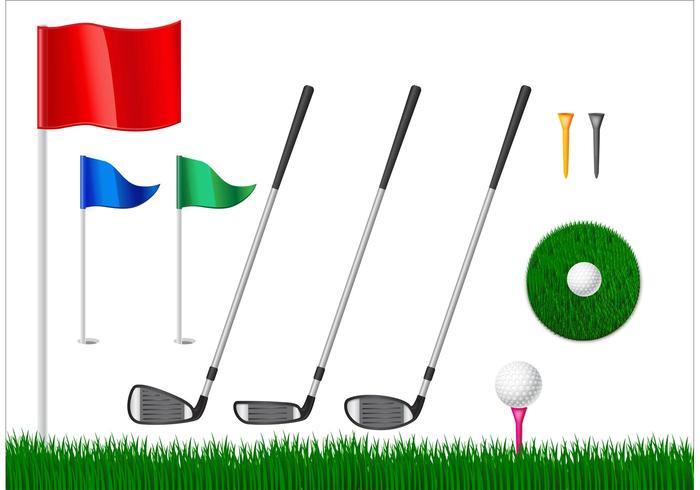 Kostenlose Golf-Vektor-Elemente vektor