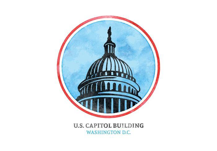 Gratis Vector Akvarell US Capital Building