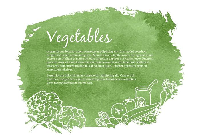 Free Drawn Gemüse Vektor-Illustration vektor