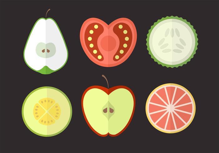 Früchte und Gemüse vektor