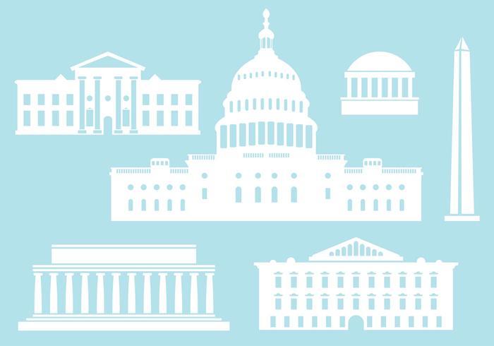 Byggnader från US Capital City. vektor