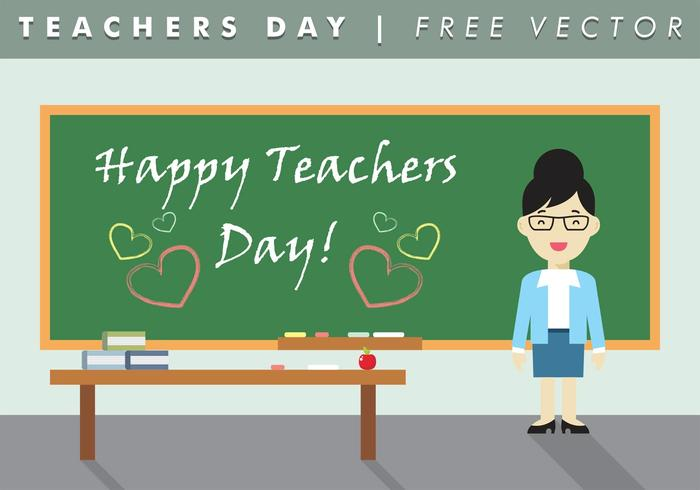 Flat Teachers Day Vector kostenlos