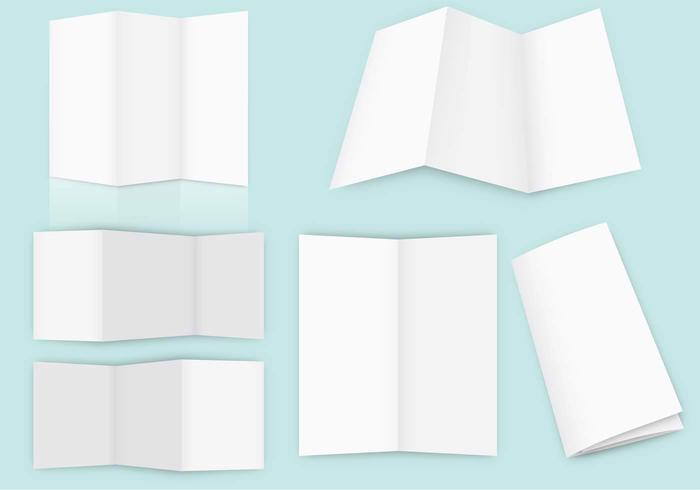 Leere Fold Broschüre Vektoren