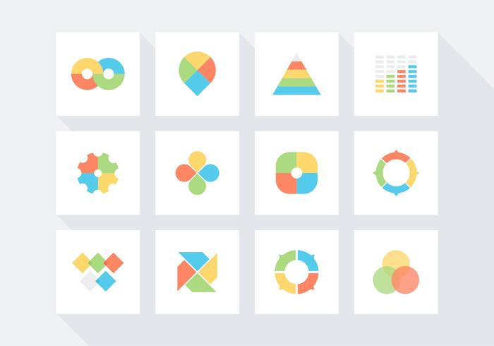 Kostenlose Infografische Vektor Icon Set