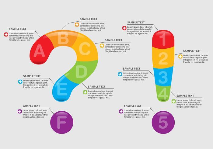Fråga och utrop Infographics vektor