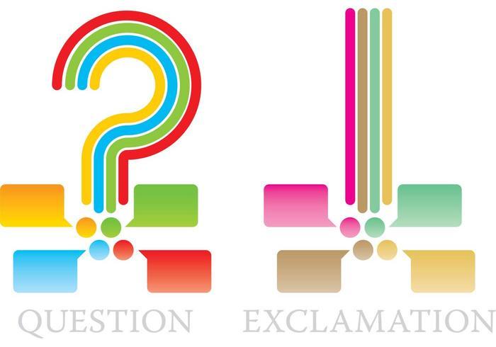 Fråga och utrop Markör vektorer
