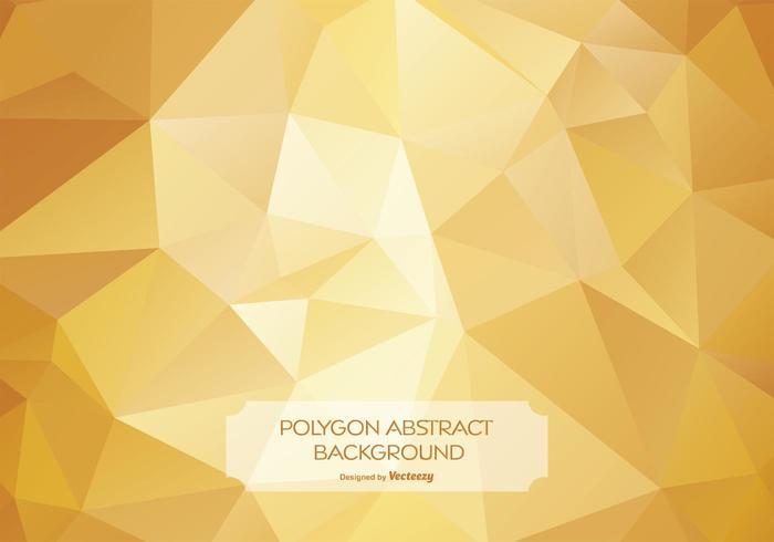 Guld abstrakt polygon bakgrunds illustration vektor
