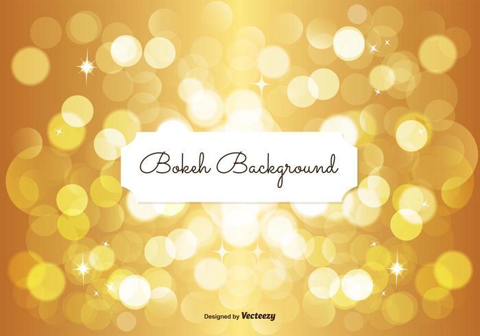 Golden Bokeh Hintergrund vektor