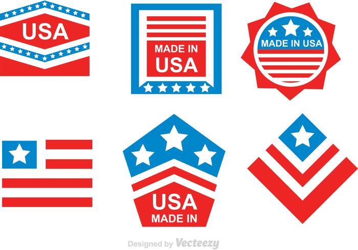 Gjord i USA vektorer