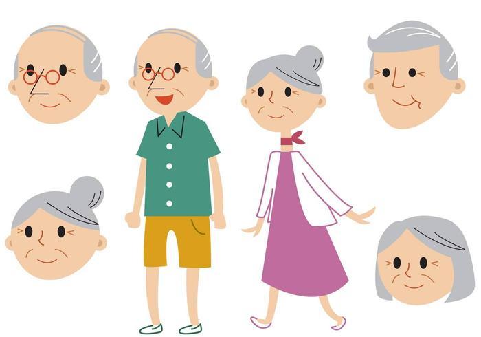 Senior par vektor uppsättning