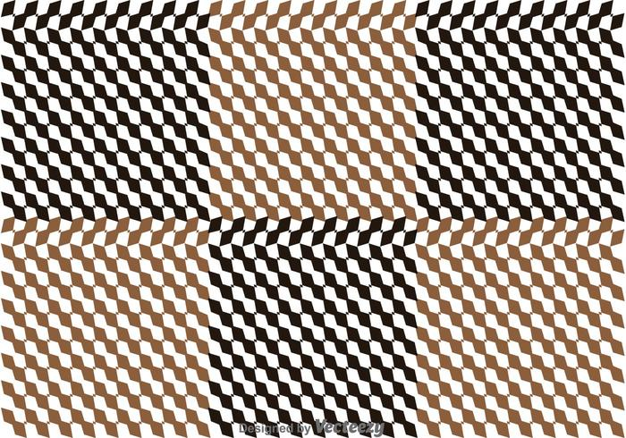 Brun checkerbräda vektor