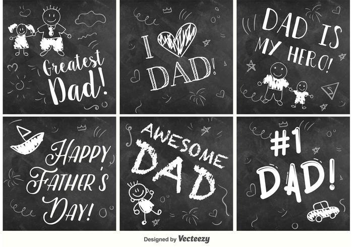 Glückliche Vatertags-Tafelschilder vektor