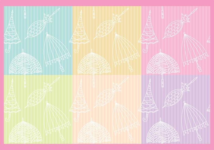 Regenschirme Muster vektor