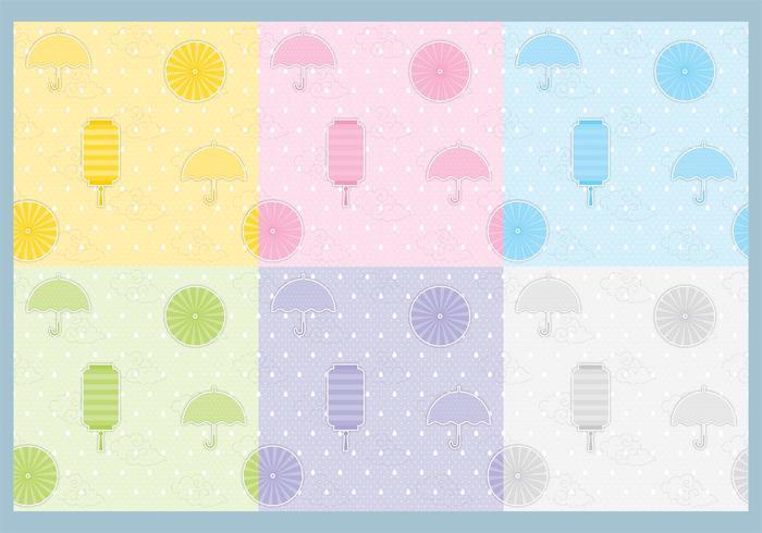 Paraply och Lantern Pattern Vectors