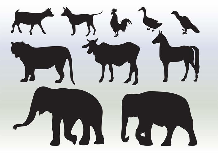 Tiere Silhouette Sammlung vektor