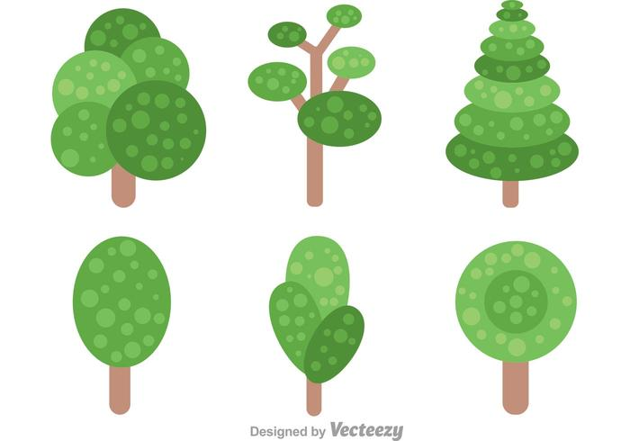 Enkelt träd med lövvektorer vektor