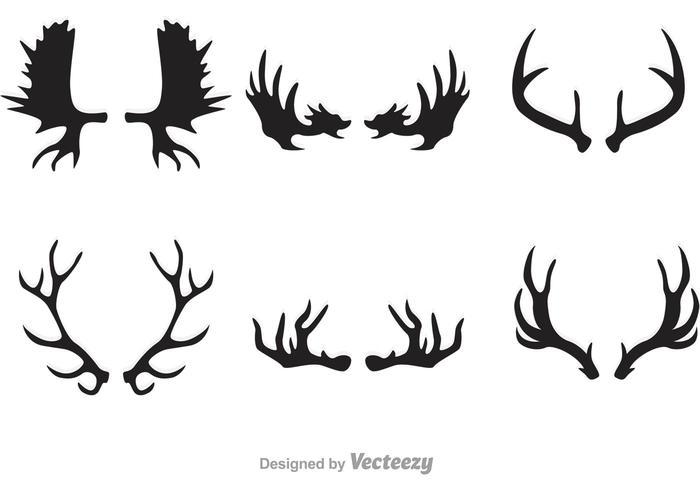 Hjort och älg Hornvektorer vektor