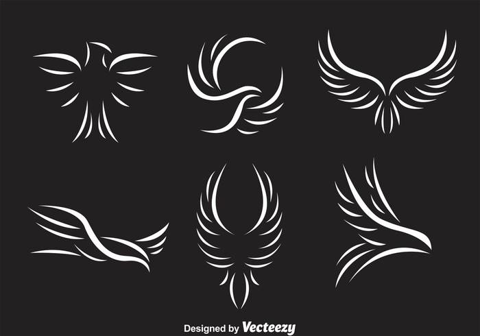 Weißes Falke-Logo vektor
