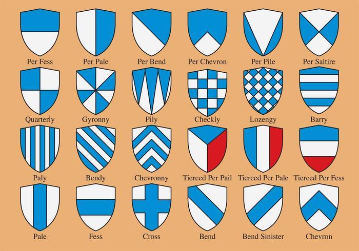 Heraldische Schildformen vektor