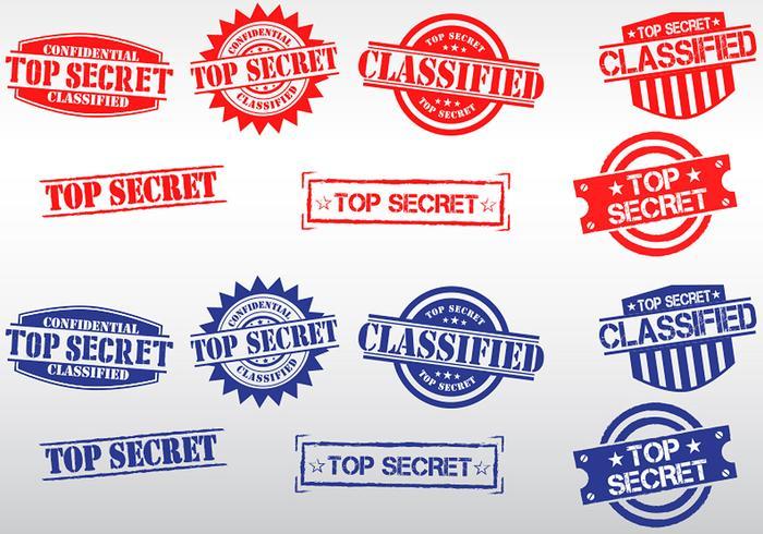 Streng geheimen Briefmarkenvektoren vektor