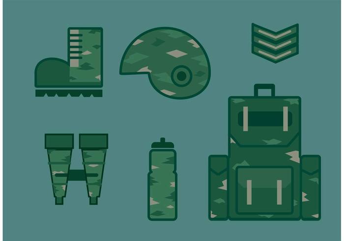 Militär Vektor Icon Set