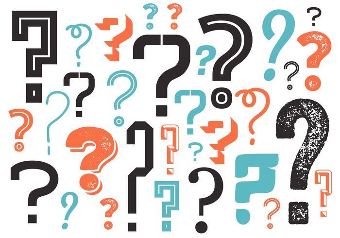 Frågetecken Bakgrund i Vektor
